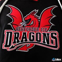 "Ice Dragons Retro-Kapuzenpullover ""Dragon"""