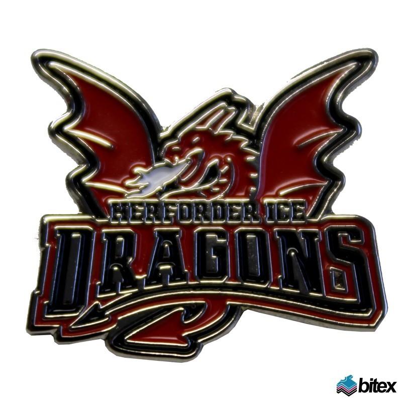 Ice Dragons Logo Pin